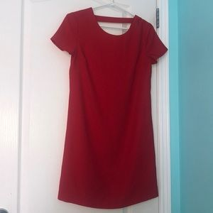xs, red, loose fitted dress